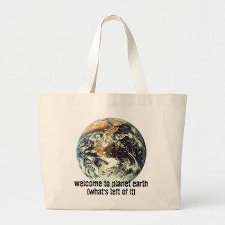 boa vinda à terra do planeta bolsas para compras
