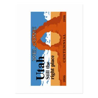 Boa vinda a Utá - EUA Cartões Postais