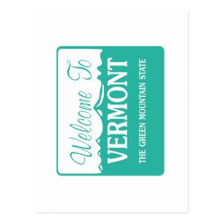 Boa vinda a Vermont - EUA Cartoes Postais