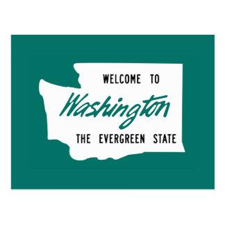 Boa vinda a Washington - EUA Cartão Postal