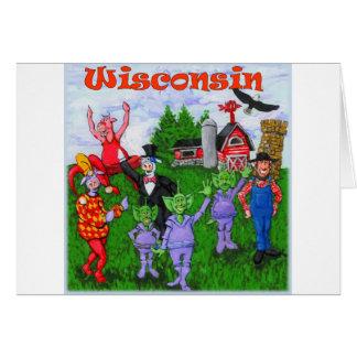 Boa vinda a Wisconsin Cartão Comemorativo