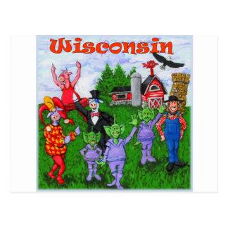 Boa vinda a Wisconsin Cartão Postal