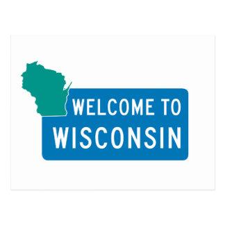 Boa vinda a Wisconsin - EUA Cartao Postal