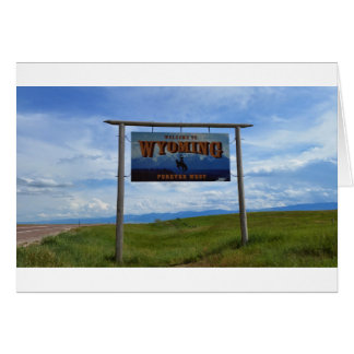 Boa vinda a Wyoming Cartão Comemorativo
