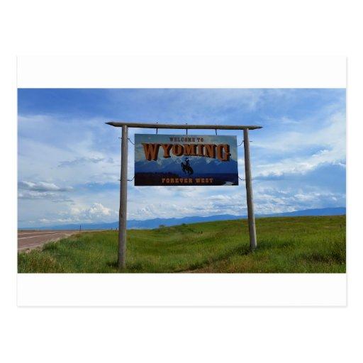 Boa vinda a Wyoming Cartões Postais