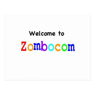 Boa vinda a Zombocom Cartoes Postais