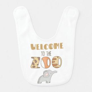Boa vinda ao babador do bebê do jardim zoológico