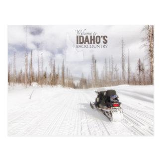 Boa vinda ao Backcountry de Idaho Cartão Postal