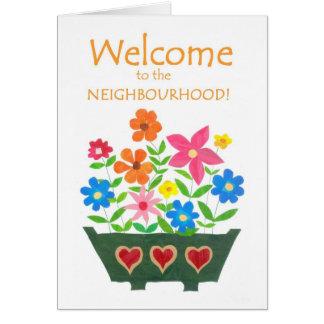 Boa vinda ao cartão da vizinhança
