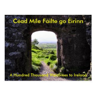 Boa vinda ao cartão de Ireland