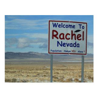 Boa vinda ao cartão de Rachel Nevada - área 51