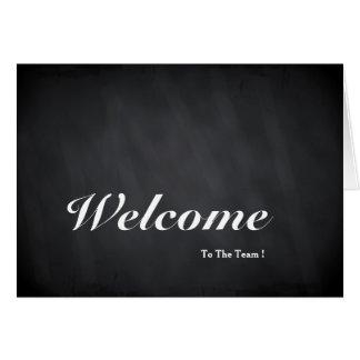 Boa vinda ao cartão do quadro da equipe