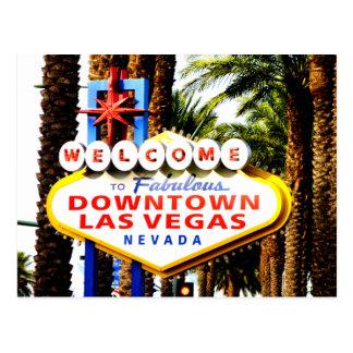 Boa vinda ao cartão do sinal de Las Vegas