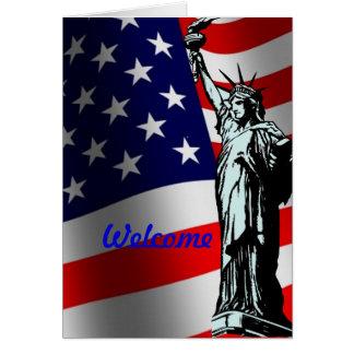 Boa vinda ao cartão dos EUA