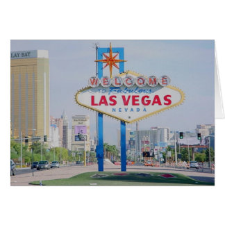 Boa vinda ao cartão fabuloso de Las Vegas
