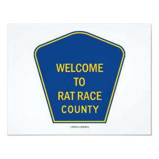 Boa vinda ao condado da competição desenfreada convite personalizado