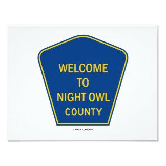 Boa vinda ao condado da coruja de noite (sinais) convites personalizado