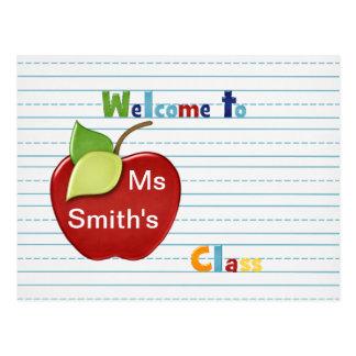 Boa vinda ao estudante do cartão do professor