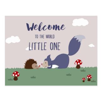Boa vinda ao mundo cartão postal
