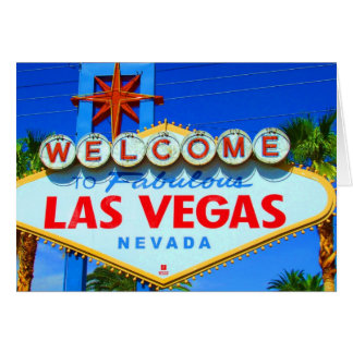 Boa vinda ao sinal de Las Vegas Cartão