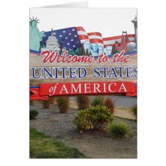 Boa vinda aos EUA Cartoes