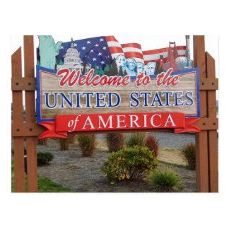 Boa vinda aos EUA Cartão Postal
