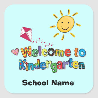 Boa vinda às etiquetas do jardim de infância