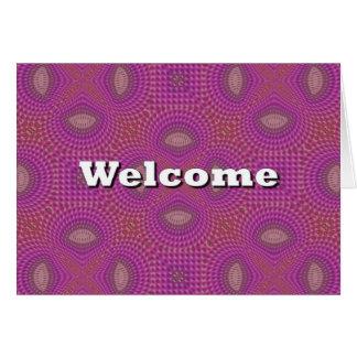 Boa vinda cartão
