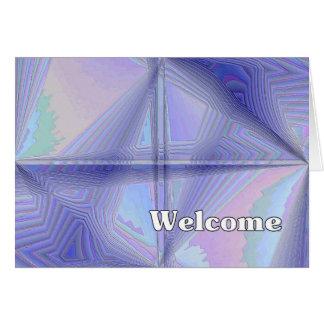 Boa vinda cartão comemorativo
