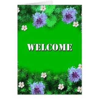 Boa vinda cartao