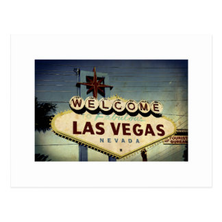 """""""Boa vinda cartão do vintage de Las Vegas"""" Cartão Postal"""