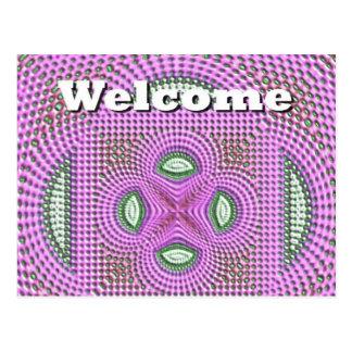 Boa vinda cartão postal