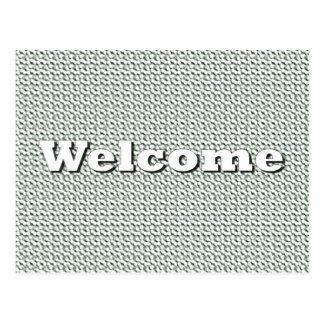Boa vinda cartoes postais