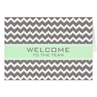Boa vinda cinzenta do empregado de Chevron da Cartão Comemorativo