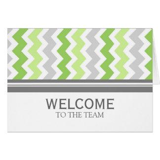 Boa vinda cinzenta do empregado de Chevron do Cartão Comemorativo
