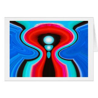 Boa vinda da alienígena cartão comemorativo