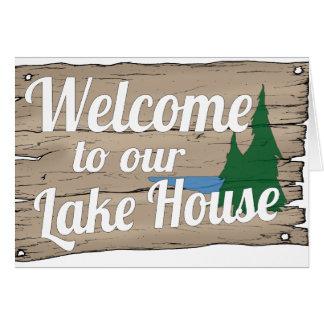 boa vinda da casa do lago cartão