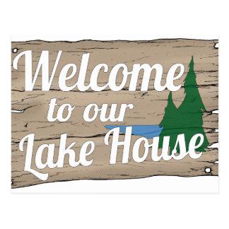 boa vinda da casa do lago cartão postal