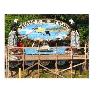 Boa vinda da ilha de Whidbey Cartão Postal