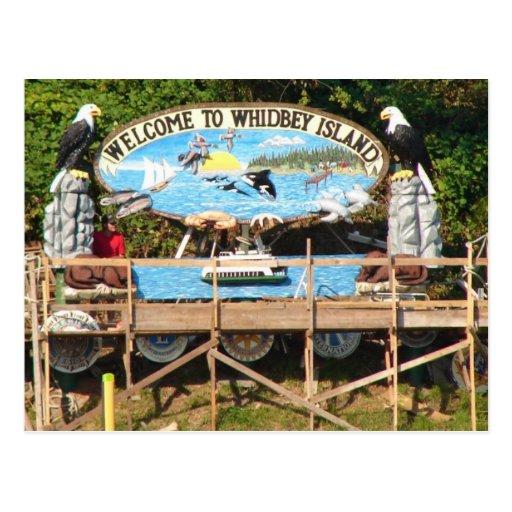 Boa vinda da ilha de Whidbey Cartao Postal
