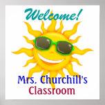 Boa vinda da sala de aula do professor - SRF Pôsteres