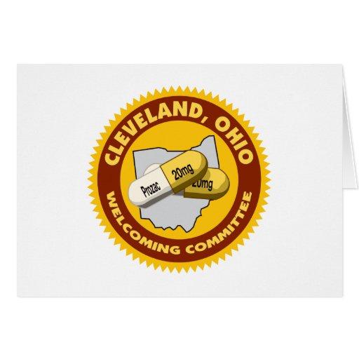 Boa vinda de Cleveland Cartão