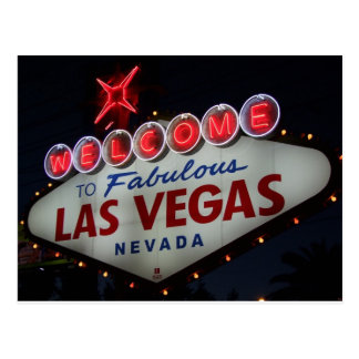Boa vinda de Las Vegas Cartão Postal