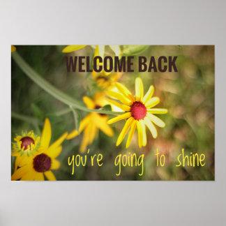 Boa vinda de volta ao poster da escola