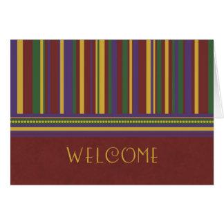 Boa vinda do empregado das listras ao cartão da