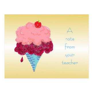 Cartão Postal Boa vinda do estudante do sorvete do cartão do