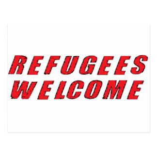 Boa vinda dos refugiados cartão postal