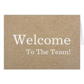 Boa vinda elegante simples personalizada cartão comemorativo