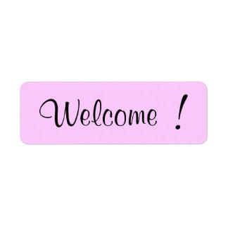 Boa vinda! etiqueta endereço de retorno