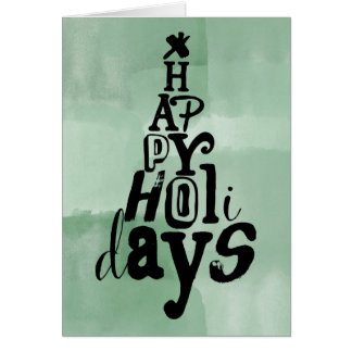Boas festas aguarela da árvore cartão